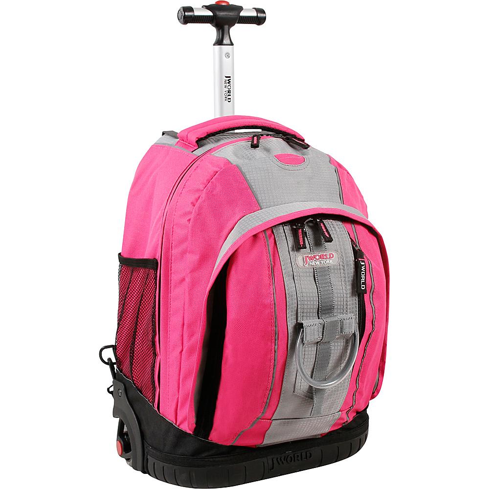 J World Twinkle Rolling Backpack - Pink/Grey - Backpacks, Rolling Backpacks