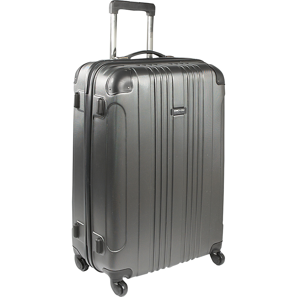 Kenneth Cole Reaction Out of Bounds Molded Upright Spinner Luggage - 28 Charcoal - Kenneth Cole Reaction Hardside Checked - Luggage, Hardside Checked