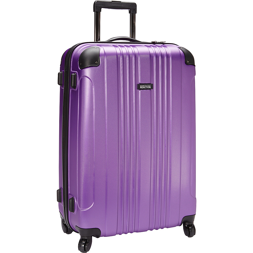 Kenneth Cole Reaction Out of Bounds 28 Molded Upright Spinner Purple Kenneth Cole Reaction Hardside Checked