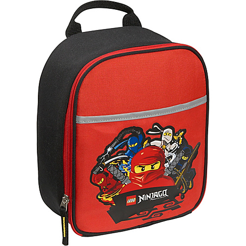 LEGO Ninjago Four Ninjas Vertical Lunch Bag RED - LEGO Travel Coolers