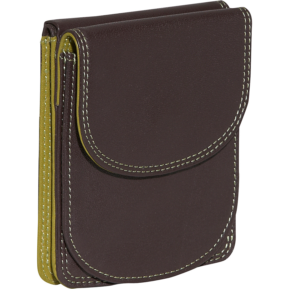 BelArno Bifold Multi Color Wallet in Black Rainbow