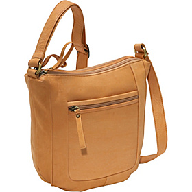 Medium twin top zip Tan