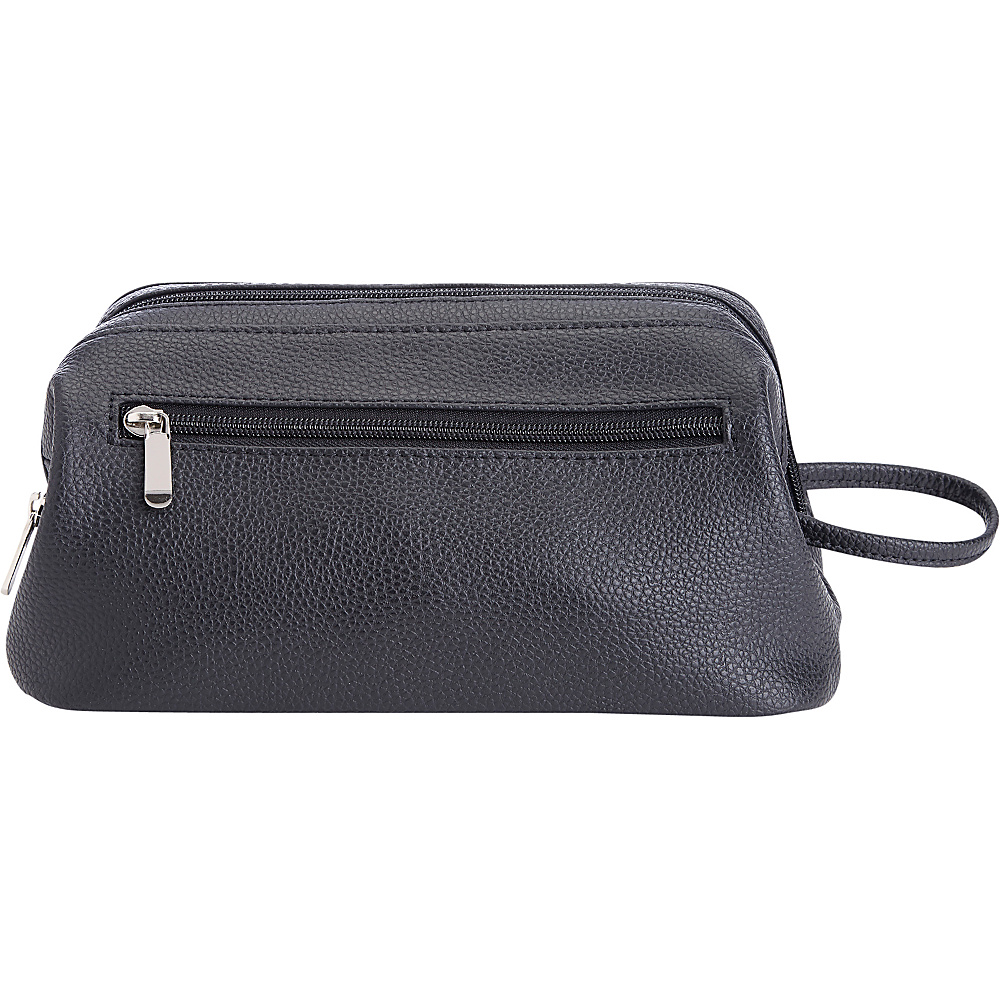 Royce Leather Colombian Leather Toiletry Bag Black - Royce Leather Toiletry Kits - Travel Accessories, Toiletry Kits