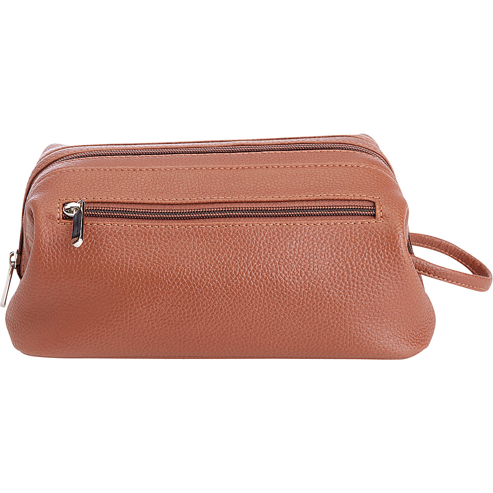 Royce Leather Colombian Leather Toiletry Bag Tan - Royce Leather Toiletry Kits - Travel Accessories, Toiletry Kits
