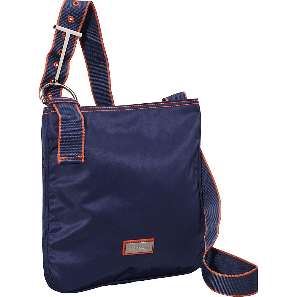 Hadaki Twill Nylon Scoop Sling Navy/Orange - Hadaki Fabric Handbags - Handbags, Fabric Handbags