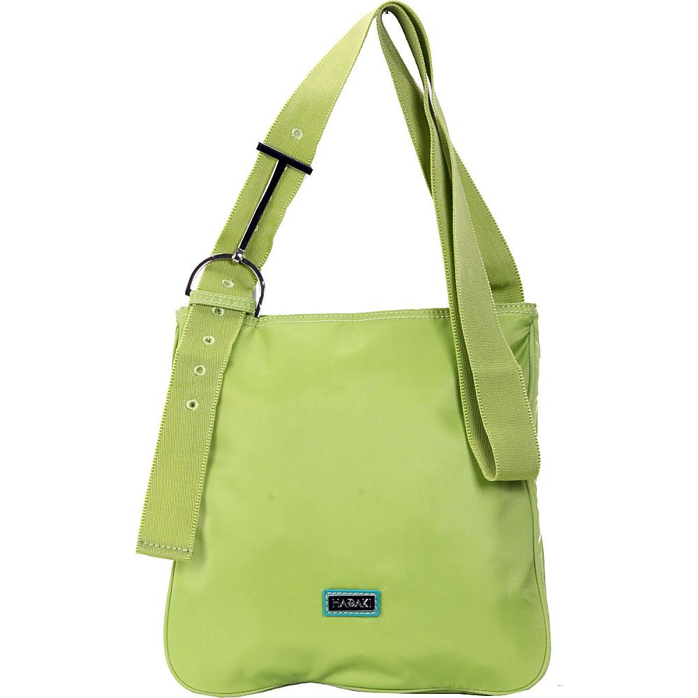 Hadaki Twill Nylon Scoop Sling Piquat Green - Hadaki Fabric Handbags - Handbags, Fabric Handbags