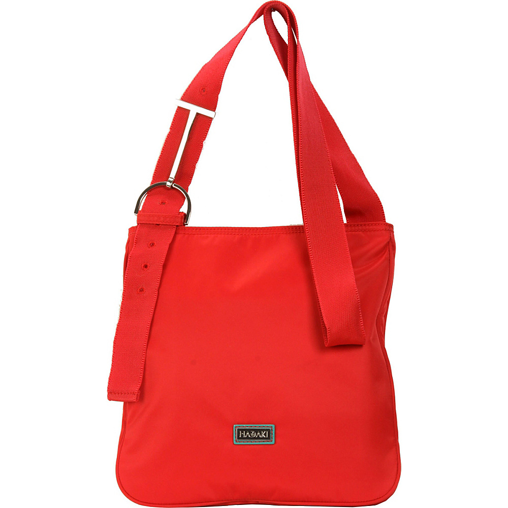 Hadaki Twill Nylon Scoop Sling Tango Red - Hadaki Fabric Handbags - Handbags, Fabric Handbags