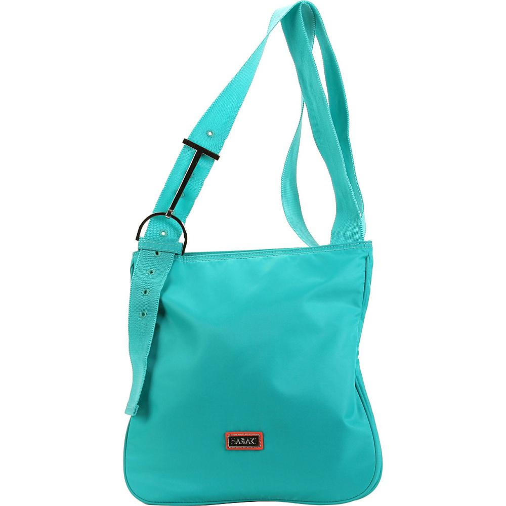 Hadaki Twill Nylon Scoop Sling Viridian Green - Hadaki Fabric Handbags - Handbags, Fabric Handbags
