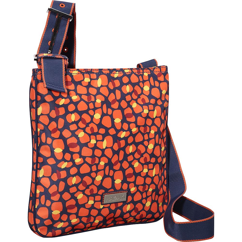 Hadaki Twill Nylon Scoop Sling Arabesque Pebbles - Hadaki Fabric Handbags - Handbags, Fabric Handbags
