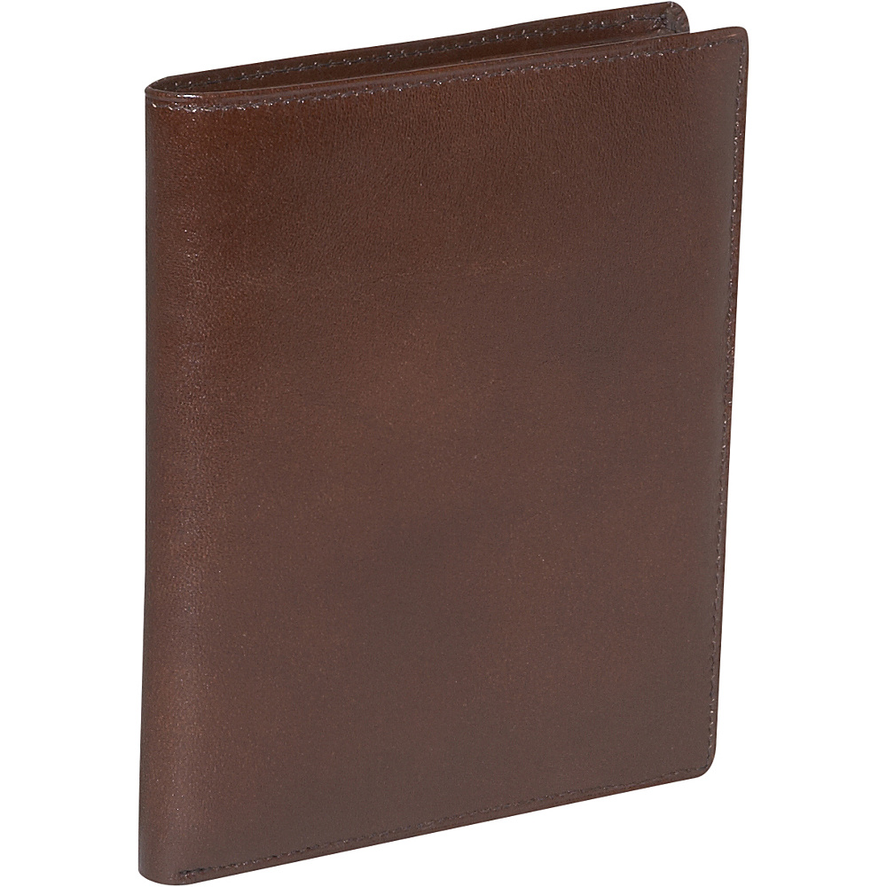Budd Leather Credit Card Hipster Brown