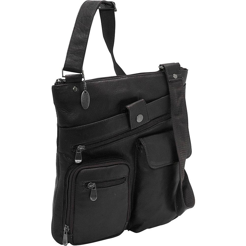 David King & Co. Multi Pocket Cross Bag - Black - Work Bags & Briefcases, Other Men's Bags