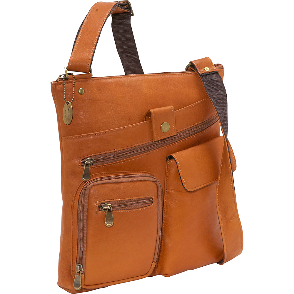 David King & Co. Multi Pocket Cross Bag - Tan - Work Bags & Briefcases, Other Men's Bags