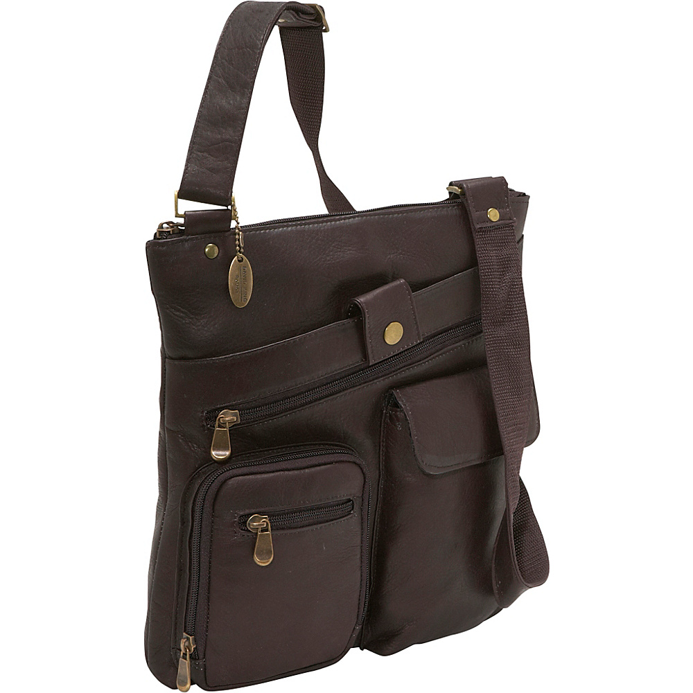 David King & Co. Multi Pocket Cross Bag - Cafe - Work Bags & Briefcases, Other Men's Bags