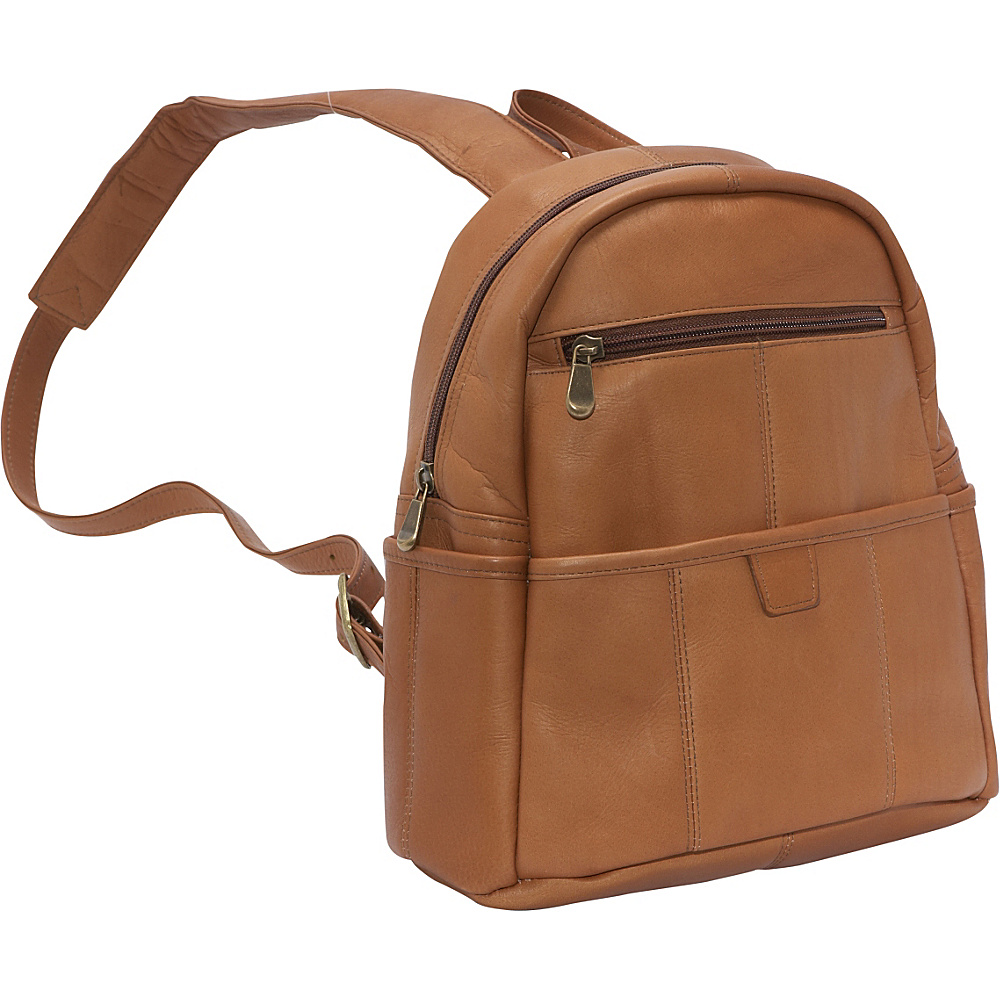 Le Donne Leather Quick Slip Womens Backpack - Tan - Handbags, Manmade Handbags
