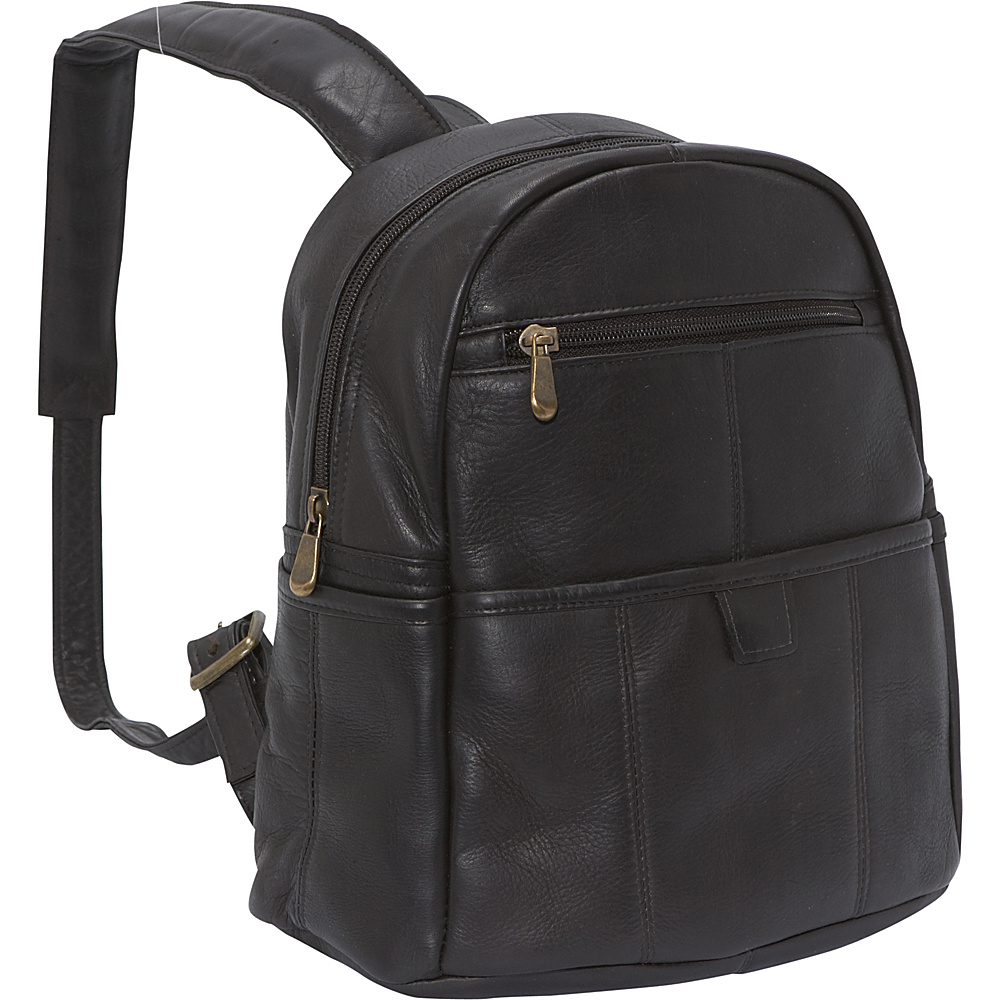 Le Donne Leather Quick Slip Womens Backpack - Caf