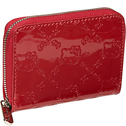 Loungefly Hello Kitty Tango Red Zip Around Mini Wallet