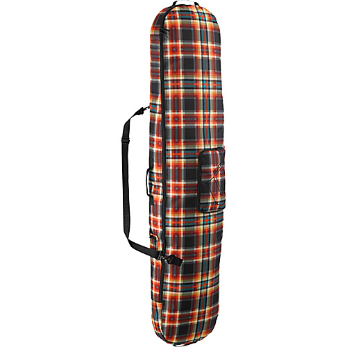 Burton Board Sack 166 Majestic Black Plaid - Burton Ski and Snowboard Bags