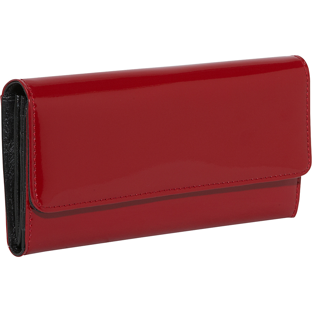 Jack Georges Patent Collection Clutch Wallet - Red