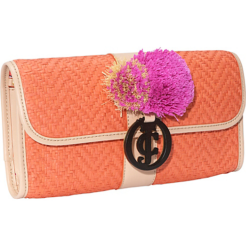Juicy Couture Georgie Straw Clutch UV Orange - Juicy Couture Designer Handbags