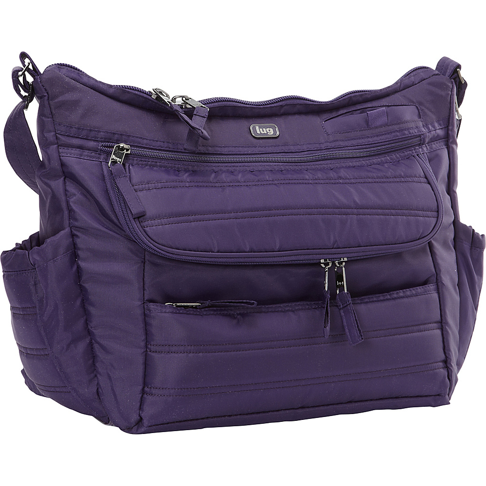 This diaper bag is a great size. It is easy enough to carry with the shoulder strap (I usually go cross body) and isn't so big that you feel weighed down. At the same time, we used it for a trip to the beach and it easily fit my swimsuit, my toddler's swimsuit, a swim diaper, 2 cloth diapers, 2 chan see more of the reviewer's review.