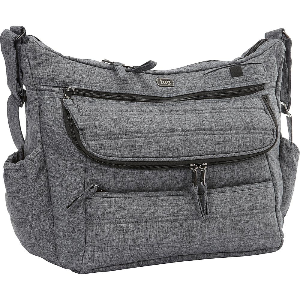Upc 880479214814 Product Image For Lug Hula Hoop Carry All Messenger Diaper Bag Heather Black