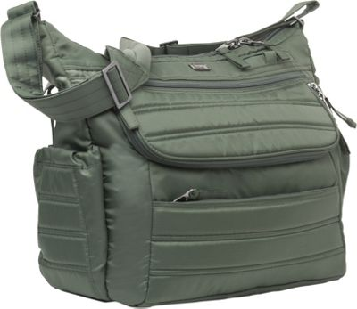 Lug Hula Hoop Carry-All Messenger Diaper Bag Olive Green - Lug Diaper Bags & Accessories