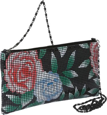 Magid Floral Mesh East-West Shoulder Bag