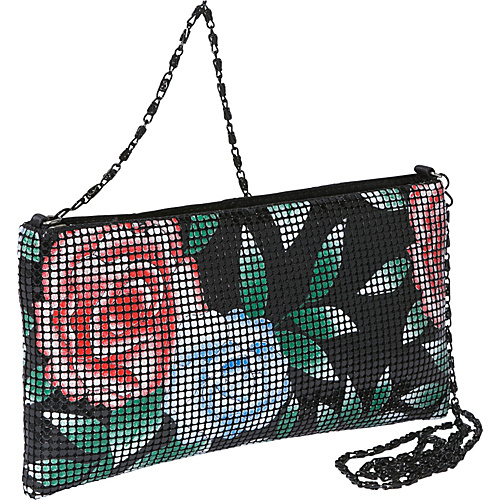 Magid Floral Mesh East-West Shoulder Bag - Cross Body