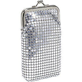 Metal Mesh Eyeglass Case Silver