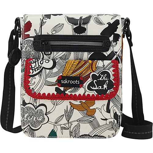 Sakroots Artist Circle Small Flap Messenger Natural Peace Print - Sakroots Fabric Handbags