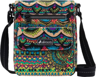 Sakroots Artist Circle Small Flap Messenger Radiant One World - Sakroots Fabric Handbags