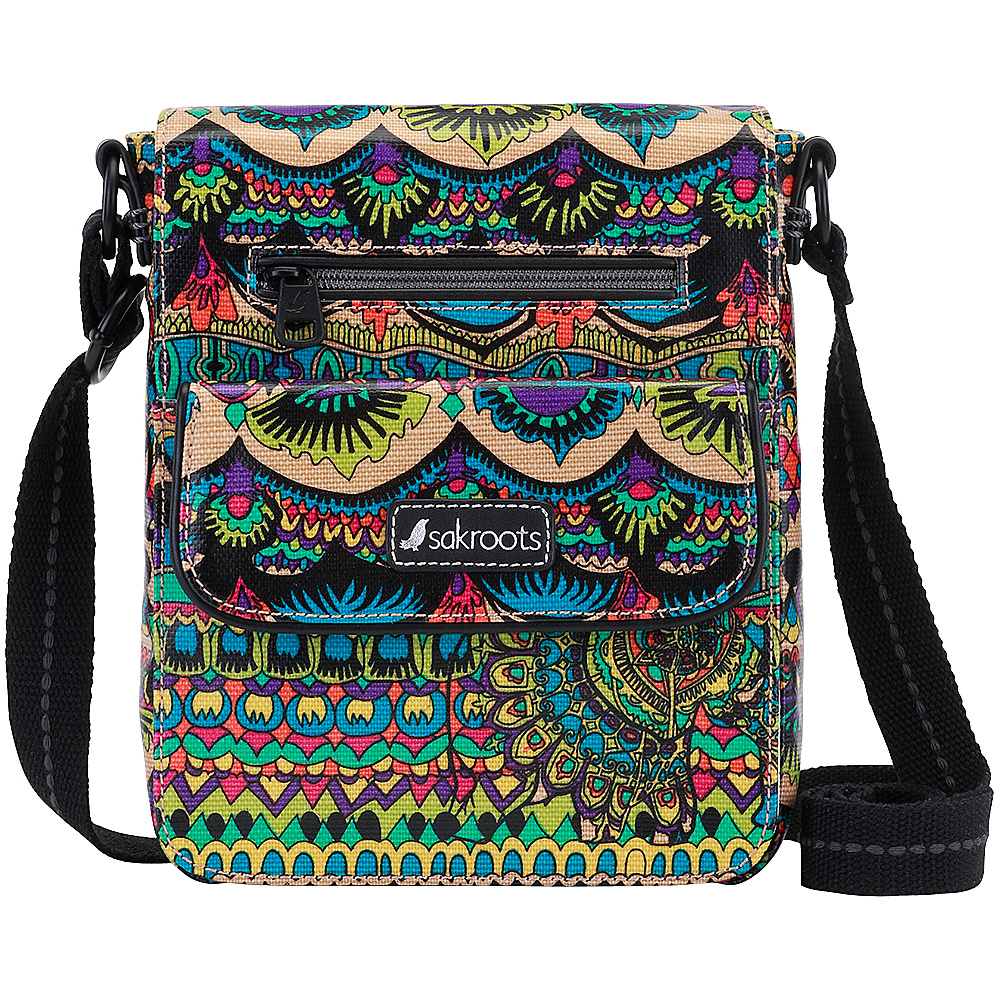 Sakroots Artist Circle Small Flap Messenger Radiant One World - Sakroots Fabric Handbags - Handbags, Fabric Handbags