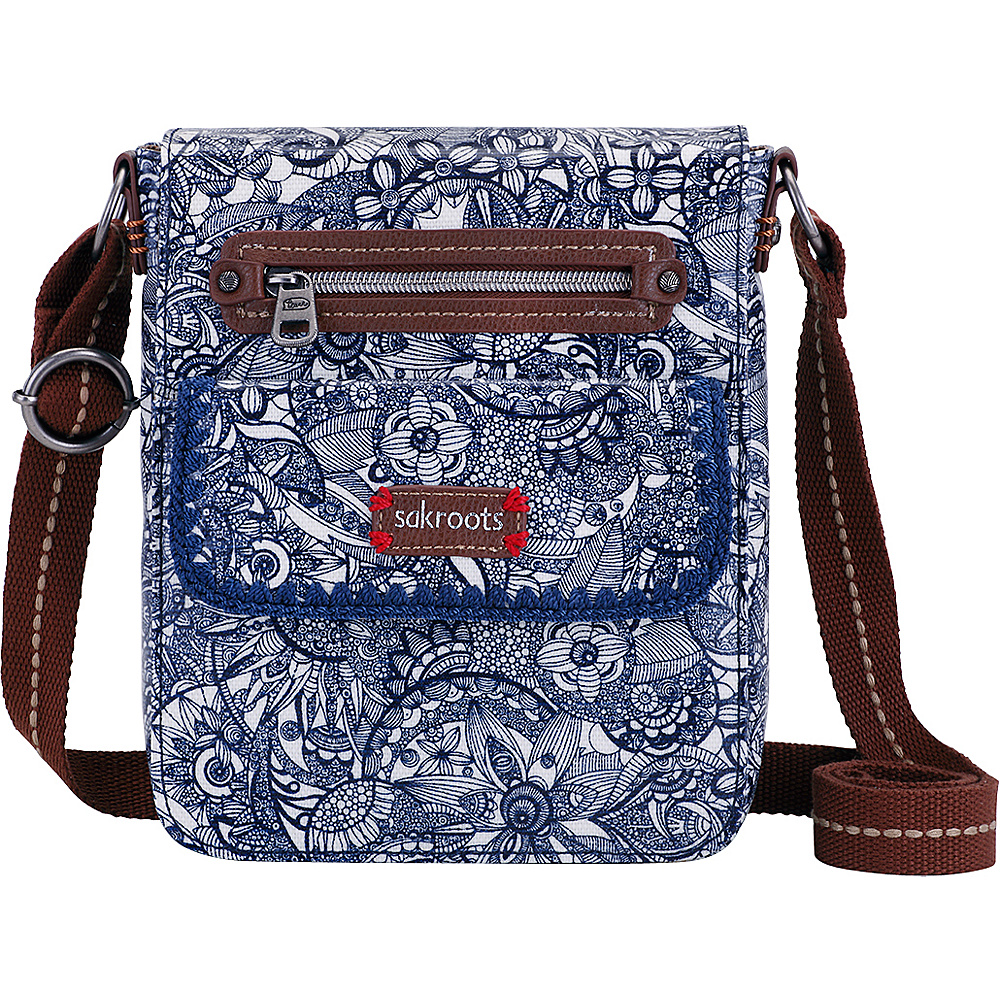 Sakroots Artist Circle Small Flap Messenger Navy Spirit Desert Sakroots Fabric Handbags