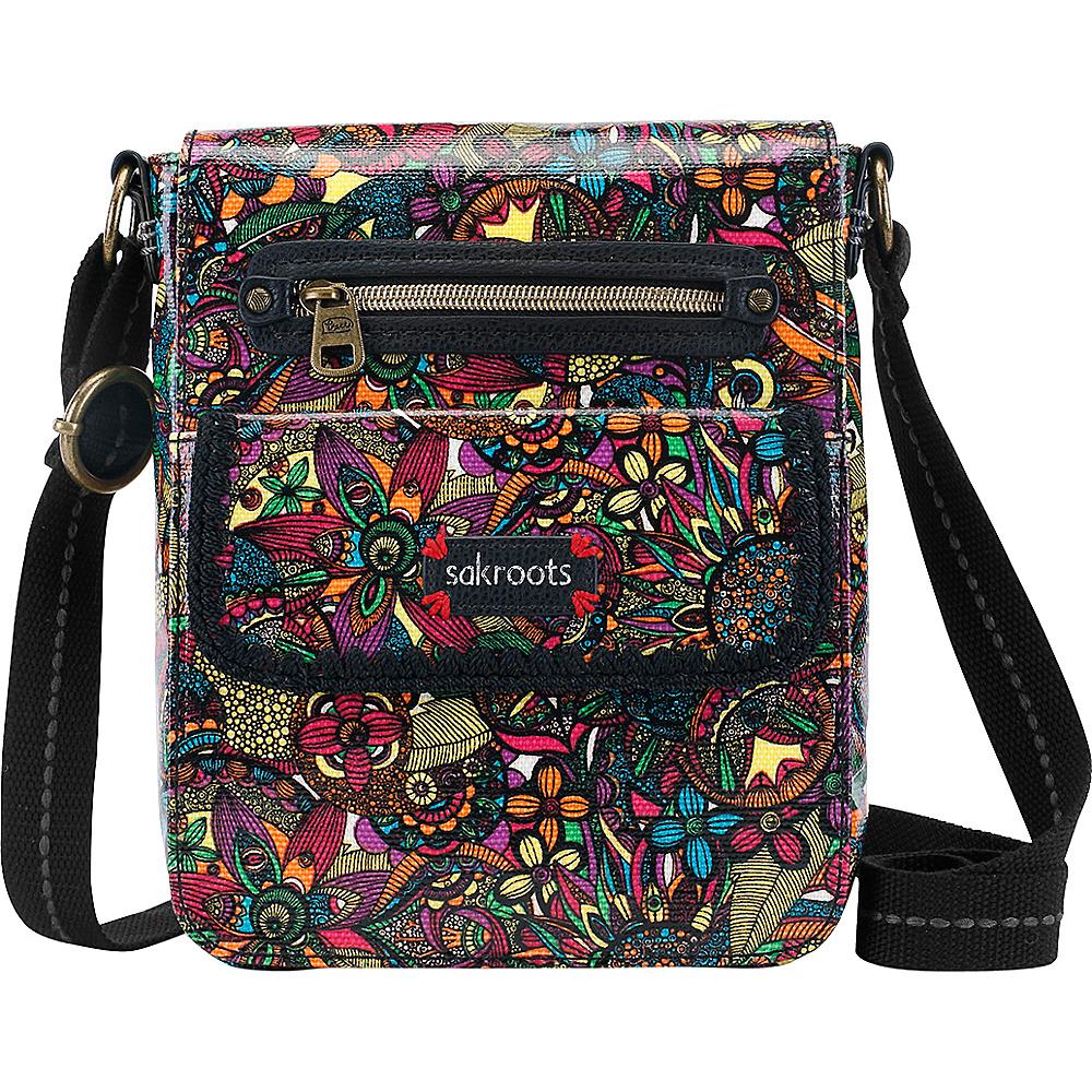 Sakroots Artist Circle Small Flap Messenger Rainbow Spirit Desert - Sakroots Fabric Handbags - Handbags, Fabric Handbags