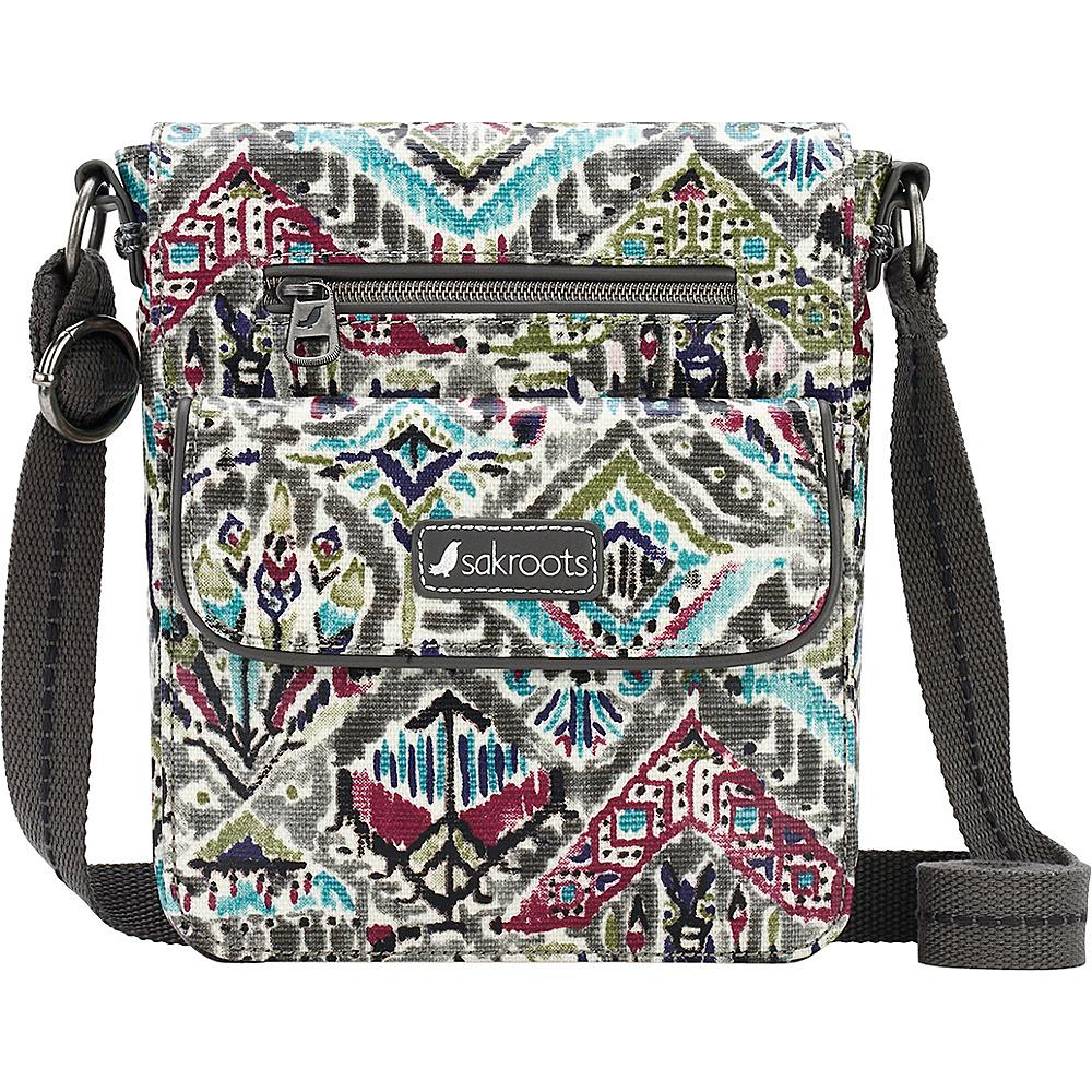 Sakroots Artist Circle Small Flap Messenger Slate Brave Beauti - Sakroots Fabric Handbags - Handbags, Fabric Handbags