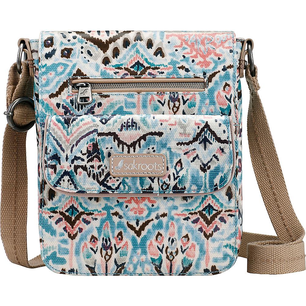 Sakroots Artist Circle Small Flap Messenger Turq Brave Beauti - Sakroots Fabric Handbags - Handbags, Fabric Handbags
