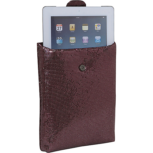 Whiting and Davis iPad Case - Black Cherry