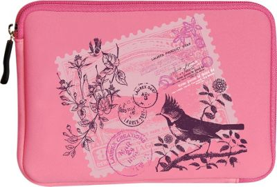 Laurex E-book Reader Sleeve for Kindle Fire Pink Birdy Stamp - Laurex Electronic Cases