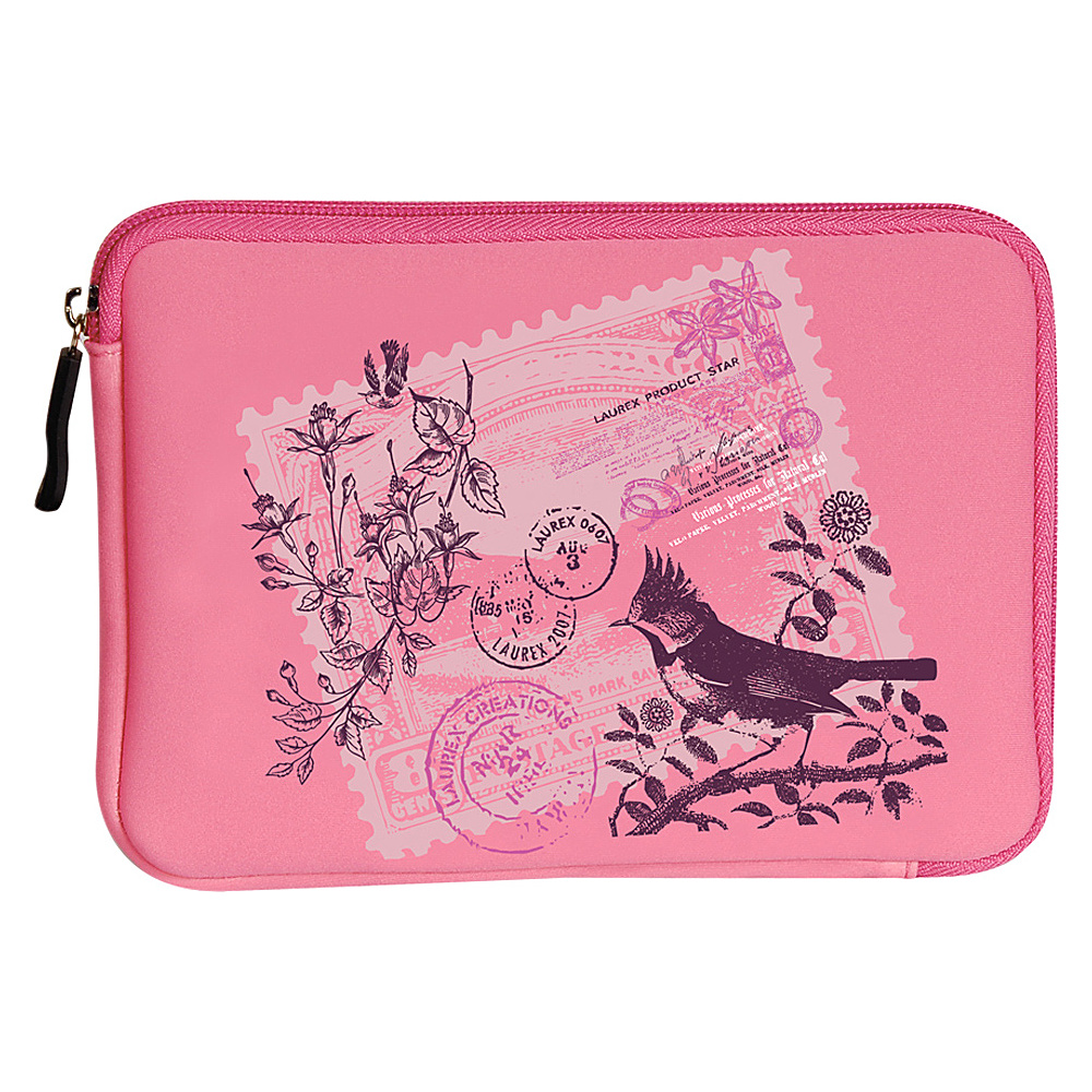 Laurex E book Reader Sleeve for Kindle Fire Pink Birdy Stamp Laurex Electronic Cases
