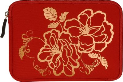 Laurex E-book Reader Sleeve for Kindle Fire Red Camellia - Laurex Electronic Cases