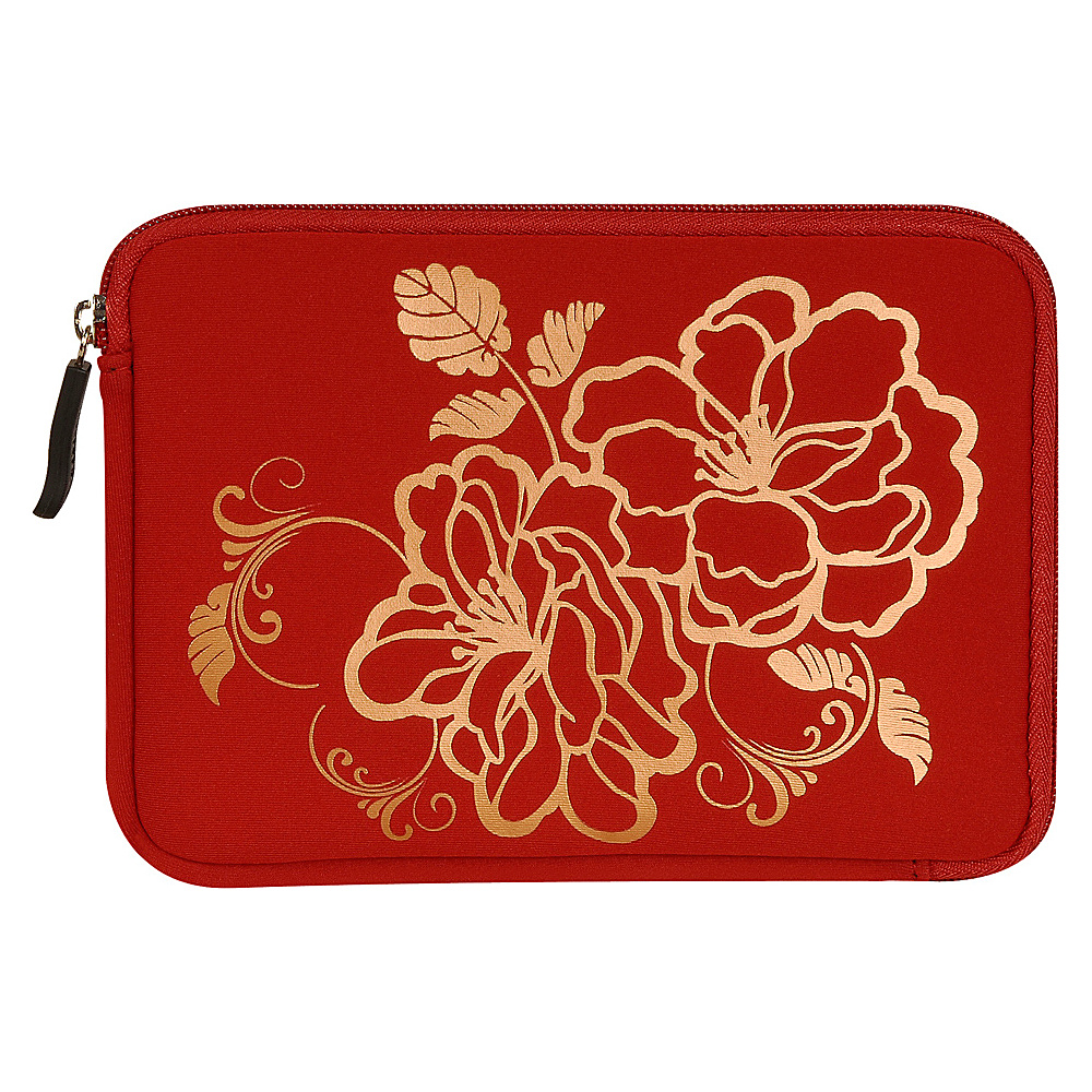 Laurex E book Reader Sleeve for Kindle Fire Red Camellia Laurex Electronic Cases