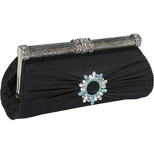 Moyna Handbags Silk Evening Clutch with Broach - Clutch