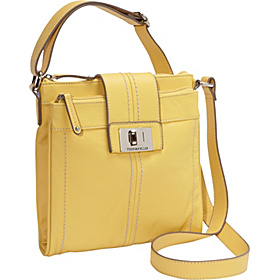 Fab Function Pebble Leather N/S Crossbody Sunrise