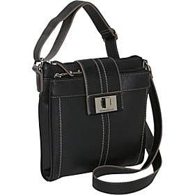 Fab Function Pebble Leather N/S Crossbody Black