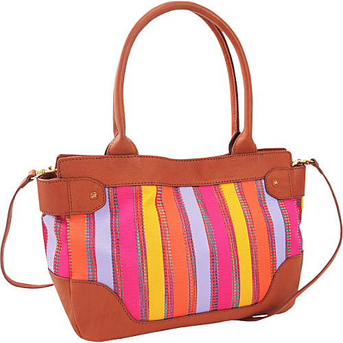 Koret Handbags Leather trimmed Stripe Med EW Satchel -