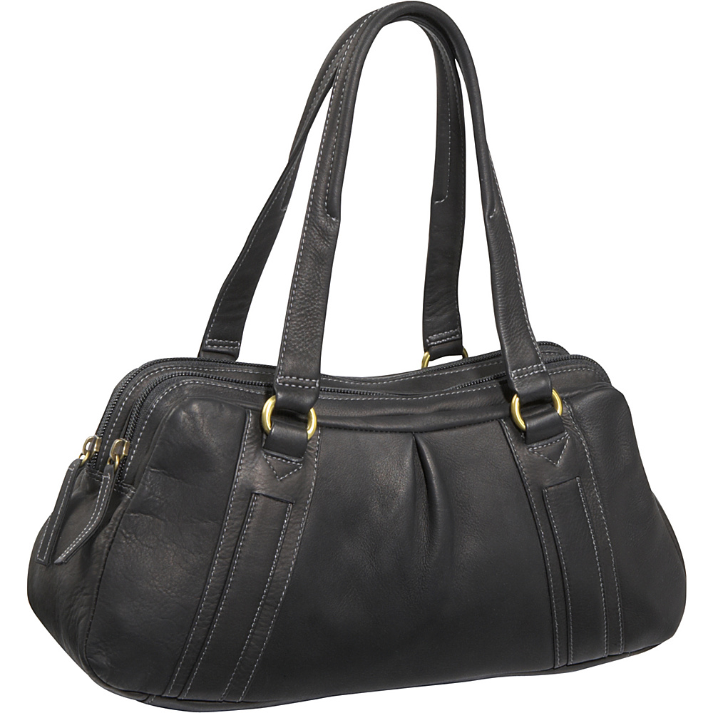 Derek Alexander EW Multi Comp Bag - Black - Handbags, Leather Handbags