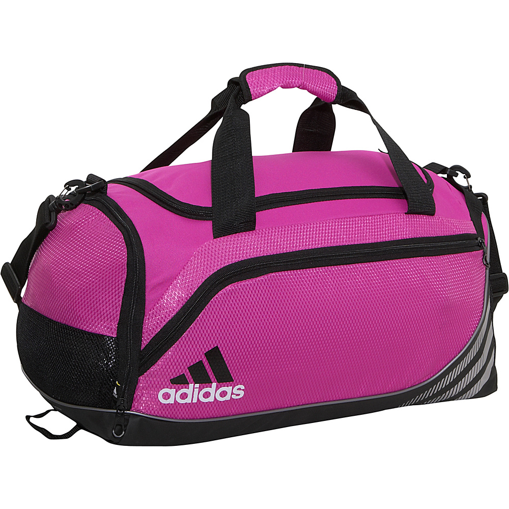 adidas Team Speed Duffel Small - Intense Pink/Black - Duffels, Gym Duffels