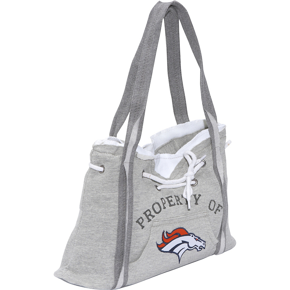 Littlearth NFL Hoodie Purse Grey Denver Broncos - Littlearth Fabric Handbags - Handbags, Fabric Handbags