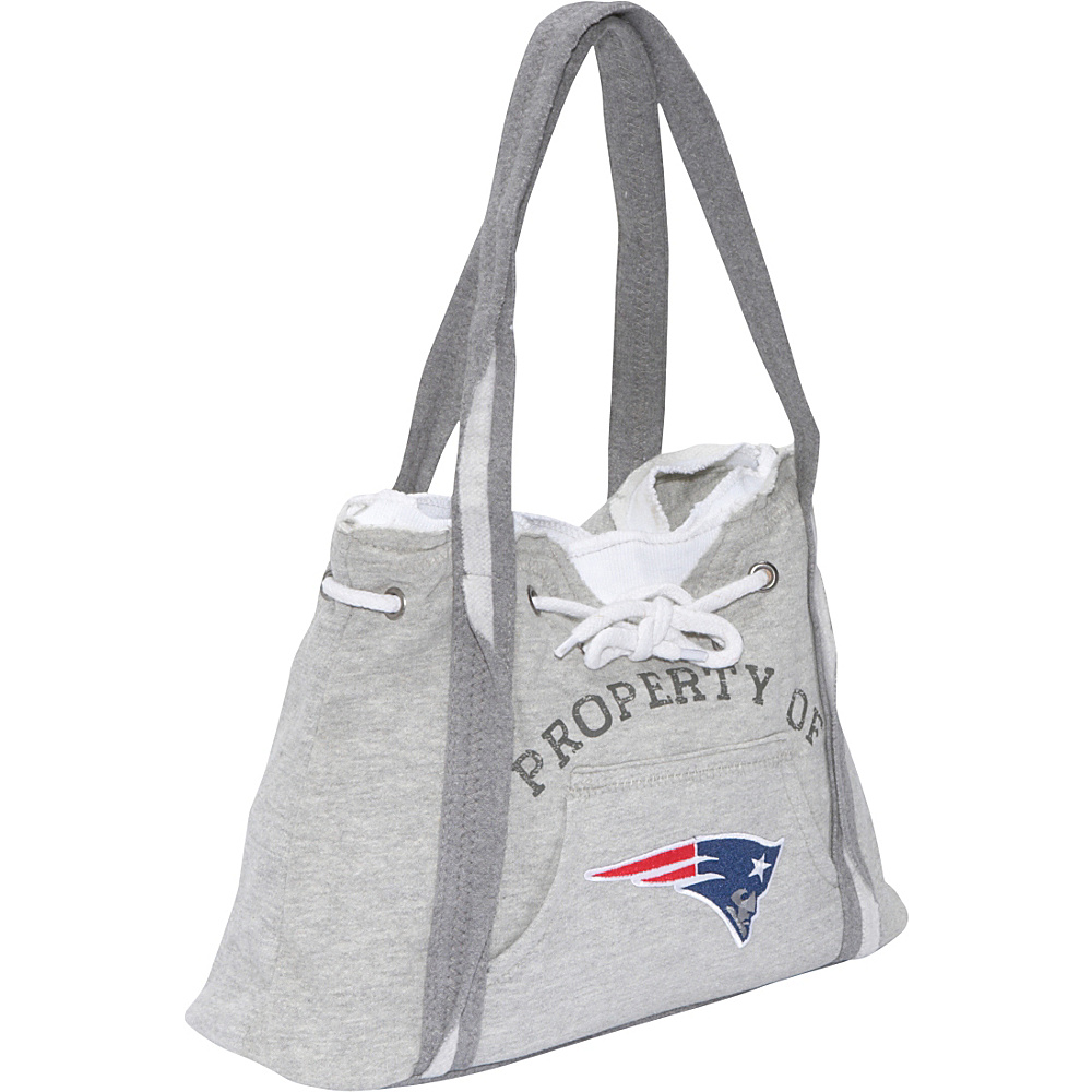 Littlearth NFL Hoodie Purse Grey New England Patriots - Littlearth Fabric Handbags - Handbags, Fabric Handbags