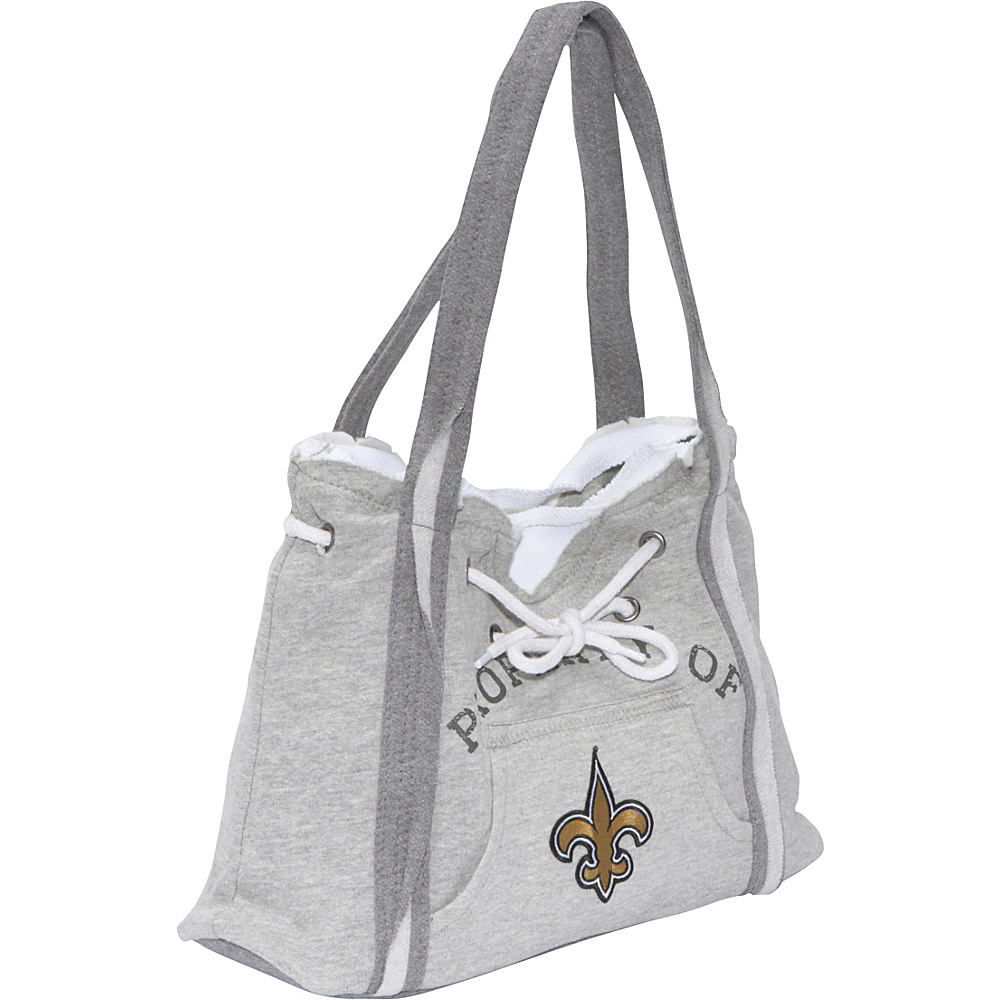 Littlearth NFL Hoodie Purse Grey New Orleans Saints - Littlearth Fabric Handbags